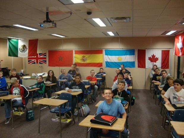 класс в американской школе